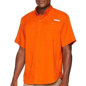 Columbia  Omni Shade Short Sleeve Shirt Orange SzL